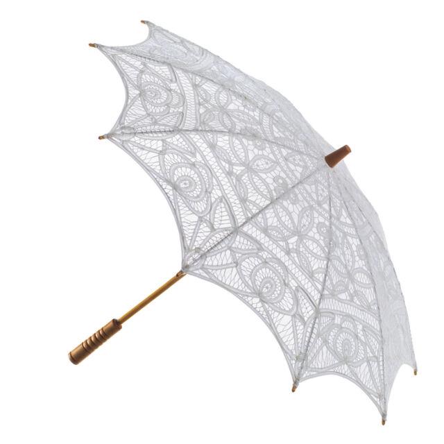 Wedding Parasol Vintage Victorian Design Cotton Lace Sun Umbrella NEW + Slipcase