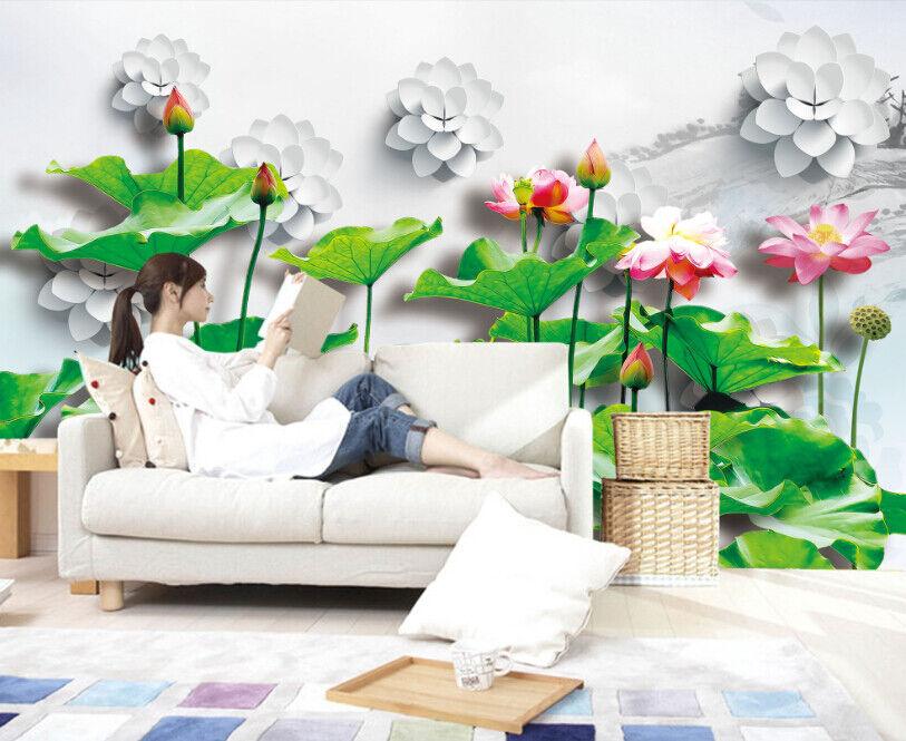 3D Lotusteich 863 Tapete Wandgemälde Tapete Tapeten Bild Familie DE DE DE Summer | New Style  | Erste in seiner Klasse  |  c49d17