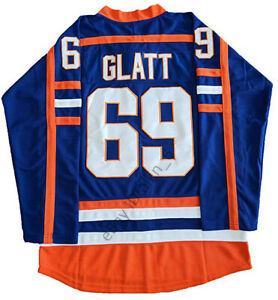 Doug-The-Thug-69-Glatt-Halifax-Highlanders-Men-039-s-Hockey-Jersey-Blue