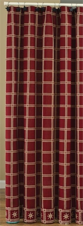 Park Designs - Windsor Star Shower Curtain -Garnet   337-45G