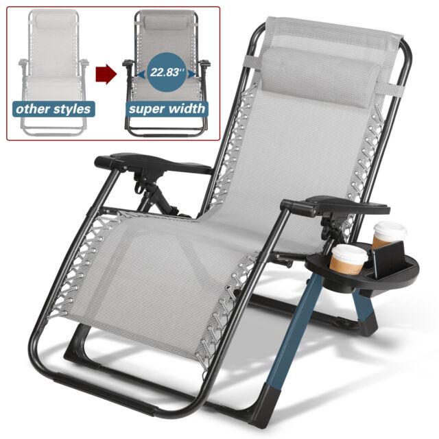 Bliss Hammocks Zero Gravity Chair W Canopy Fern Jacquard 31 No Side Tray For Sale Online Ebay