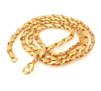 "Women 18K Yellow Gold Plated Xmas Wedding 4mm 45cm 17.5/"" Choker Chain Necklace"