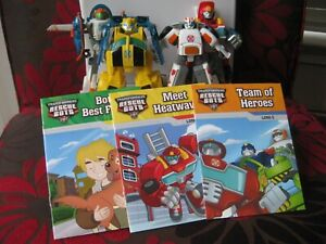 TRANSFORMERS RESCUEBOTS LOT a WITH BOOKS!!