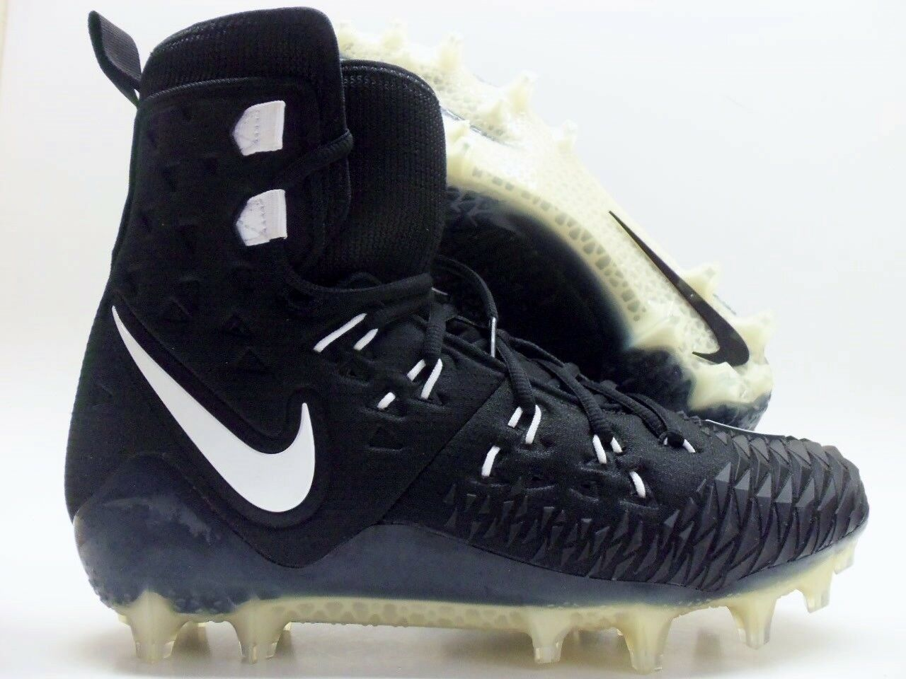 NIKE FORCE SAVAGE ELITE TD FOOTBALL CLEAT BLACK WHITE SZ MEN'S 11 [857063-011]