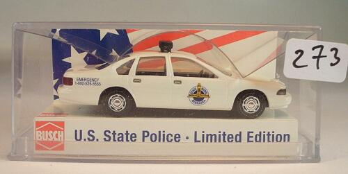 Busch 1/87 nº 47672 chevrolet caprice U.S. State Police nebraska OVP #273