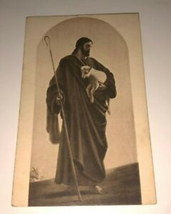 The-Good-Shepherd-JESUS-Eyre-amp-Spottiswoode-6013-Sepia-Postcard-PC-Unused-1910s