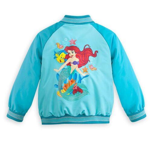 Disney Store Princess The Little Mermaid Ariel Varsity Jacket Girl Size 5//6