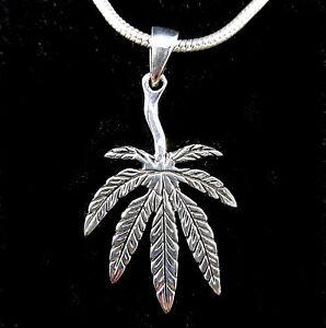 Handcrafted solid 925 sterling silver 3d marijuana pot cannabis leaf la foto se est cargando hecho a mano solido de plata esterlina 925 aloadofball Image collections