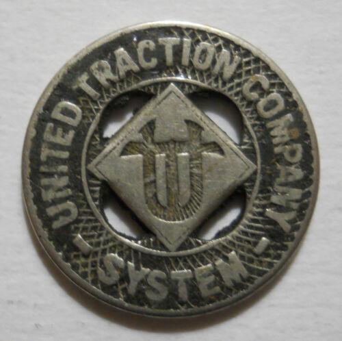 NY10A transit token United Traction Company System Albany, New York