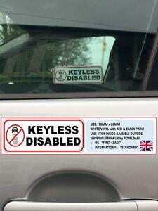 2-034-KEYLESS-DISABLED-034-WINDOW-STICKERS-VEHICLE-RELAY-HACK-THEFT-FARADAY-BAG-ENTRY
