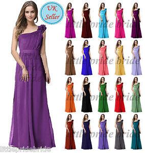 A-Line-Princess-Full-Length-Chiffon-Evening-Prom-Bridesmaid-Wedding-Dress-JS32