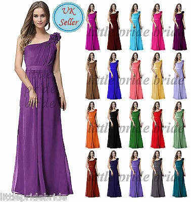 A-Line/Princess Full-Length Chiffon Evening Prom Bridesmaid Wedding Dress JS32