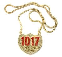 Iced Out 1017 Brick Squad Pendant-6 & 36 Franco Chain