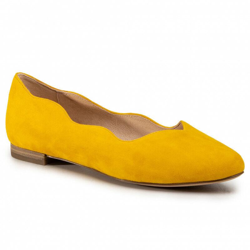 Caprice Bailarina damen Gelb Größe 37 38 39 40 41 Real Cuero Mocasines 24201