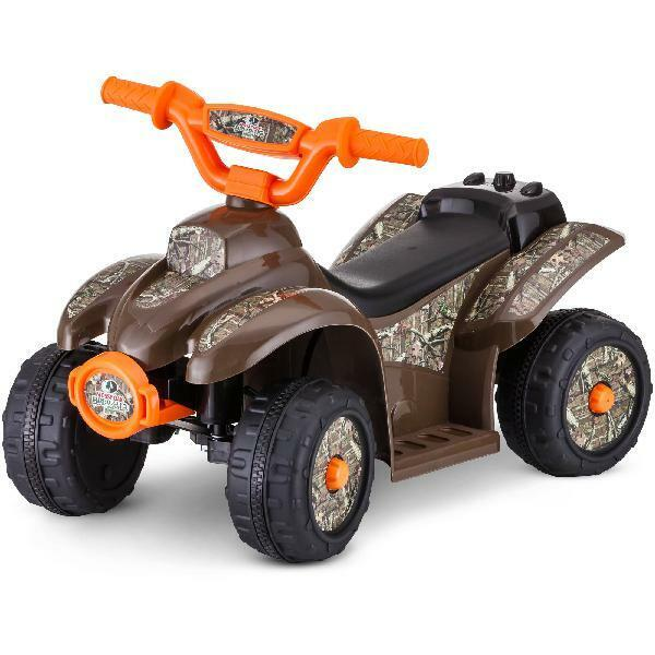 Kids Mossy Oak 4 Wheeler Trike Ride On Power Wheels 6v Camo Toy Car Quad