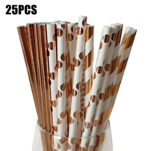 KQ-25Pcs-Disposable-Kraft-Paper-Drinking-Straws-Xmas-Wedding-Party-Home-Supplie