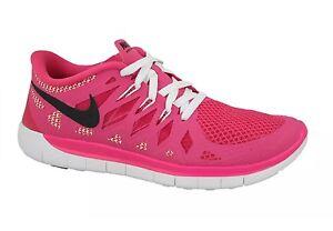 super popular 3059a 94518 Nike Free 5.0 GS Hot Pink White Trainers Womens girls sizes UK3 UK3 ...