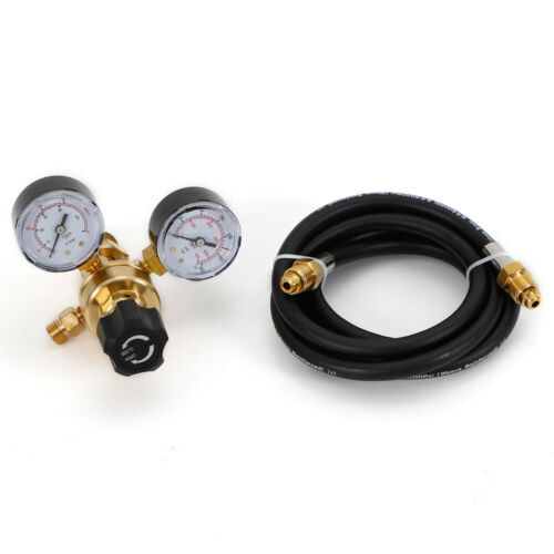 CO2 Tig Mig Argon Flow Meter Weld Regulator Gauge Gas Welder+Hose CGA580 Inlet