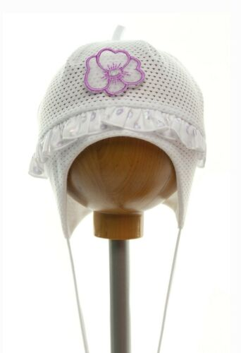 RICH Cotton girls sun hat Mesh Summer TIE UP Baby CAP 0-12 months NEW