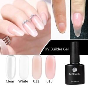 Nail Builder Gel Acrylic Poly Gel Polish Clear Lacquer Quick Building Mshare Uv Ebay