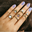 Retro-12Pcs-Set-Silver-Gold-Boho-Arrow-Moon-Flower-Midi-Finger-Knuckle-Rings thumbnail 13