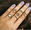 Retro 12Pcs// Set Silver Gold Boho Arrow Moon Flower Midi Finger Knuckle Rings