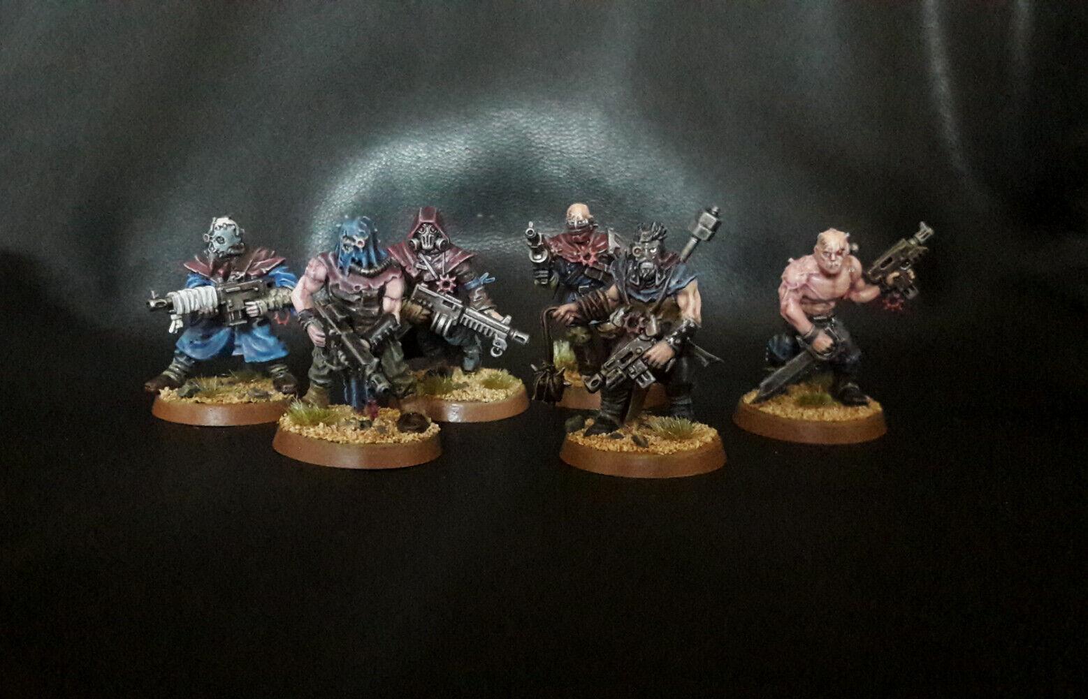 Warhammer 40K  Chaos sectateurs, (6 miniatures) Pro Painted  vente en ligne