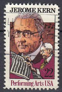 Estados unidos sello con sello 22c Jerome Kern compositor Broadway película de Hollywood/587
