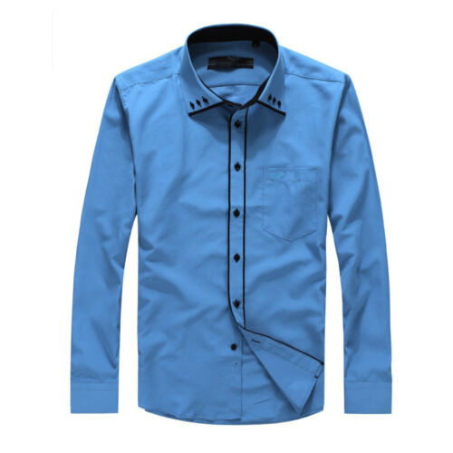 Men/'s Smart Shirt Casual Slim Fit Designer Shirts Long Sleeve DC04