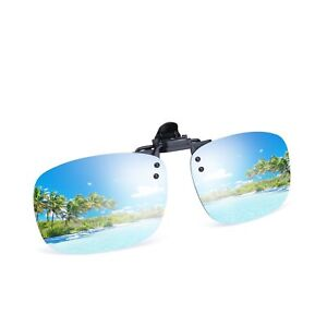 Besgoods Cool Silver Mirror Polarized Clip-on Flip up Sunglasses Plastic