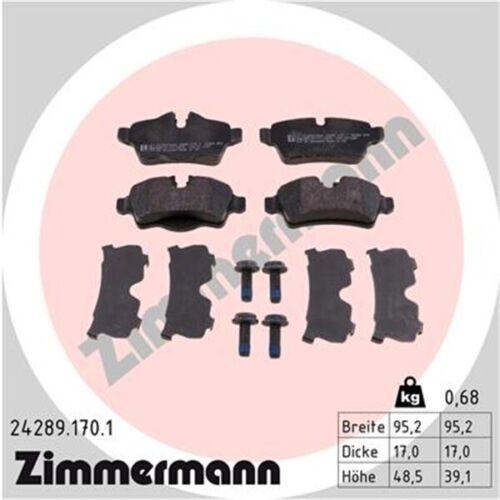 Beläge Hinten  MINI Cooper S 1.6 Zimmermann Sport Bremsscheiben