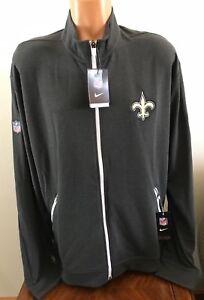 the best attitude 3f15d 1902d Details about Nike NFL New Orleans Saints DRI-FIT Touch Fleece Track Jacket  Gray Size XXL 2XL