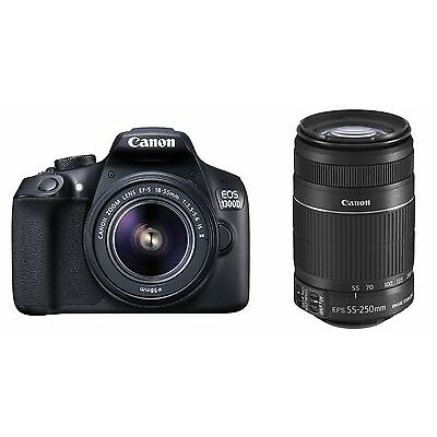 Canon EOS 1300D with 18-55 IS II & 55-250 Lens