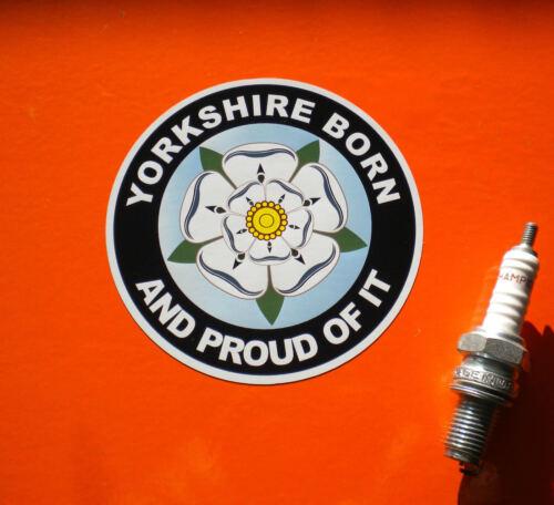 Yorkshire Born sticker rose