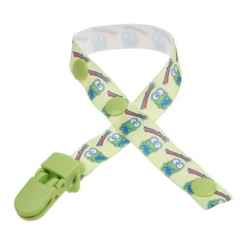 Baby Kinder Schnullerband Schnullerkette mit schnullerclip Cartoons Dummy Clips