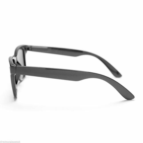 "Mens Ladies Polarised Sunglasses Shades Matte Black /""Rubber Feel/"" Frame Retro"