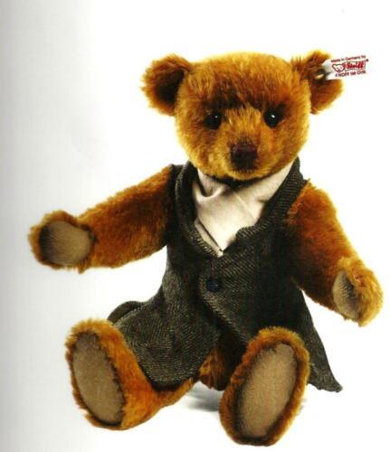 """STEIFF /""""Forrest Teddy Bear/"""" EAN 035289 Russet Mohair Articulé-Lim Ed-Gilet"""