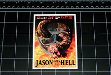 Friday the 13th Part 9 movie decal sticker Jason Vorhees Crystal Lake 80s horror