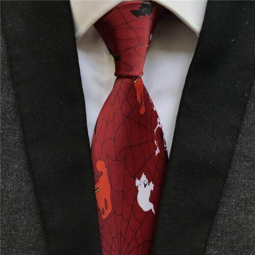Crâne Imprimé Homme À Encolure cravates Polyester Printed Pattern Casual Costume cou porter NEUF