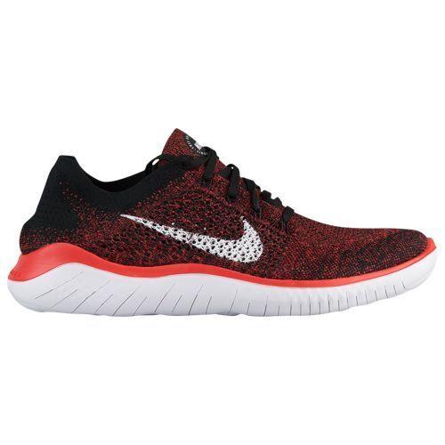 Nike Free RN Flyknit 2018 Black White Red Mens Running All NEW