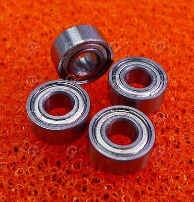 10 Pcs 3x13x5mm Metal Double Shielded Ball Bearing Bearings 3*13*5 633ZZ