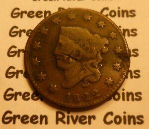 1822 Large Cent   #MQ22 CULL