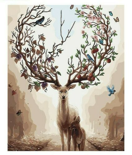 Deer Tree Paint By Number Kit For Adult DIY Painting 40CMx50CM Canvas