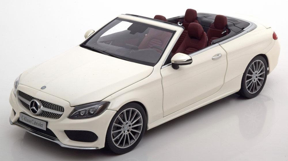 I-SCALE Mercedes-Benz C Klasse A205 Converdeible bianca DEALER 1 18New