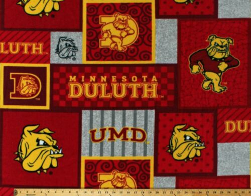 Fleece University of Minnesota Duluth Bulldogs College Fabric Print BTY A503.69