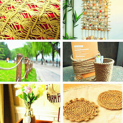 2Pcs 10M Twisted Burlap Jute Twine Rope Thick Natural Hemp Cord Sisal Rope 6mm