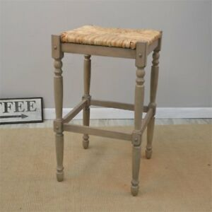 Stupendous Details About Carolina Classics Frederick 29 Bar Stool In Weathered Gray Ncnpc Chair Design For Home Ncnpcorg