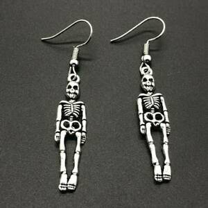 Punk-Skull-Earrings-Body-Skeleton-Pendant-Dangle-Hip-Hop-Fashion-Women-Jewelry