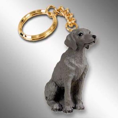 Weimaraner Dog Tiny One Resin Keychain Key Chain Ring