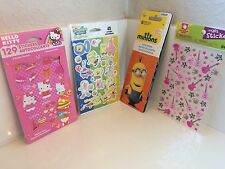 Stickers Characters Lot Minions Hello Kitty SpongeBob Squarepants Guitar NIP